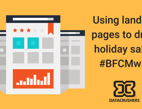 Using landing pages to drive sales during peak holiday shopping