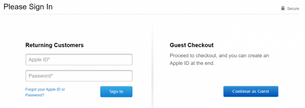 Guest Checkout on Apple.com
