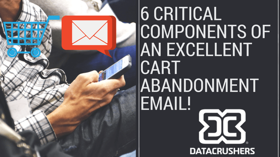 6 Critical Components of an Excellent Cart Abandonment Email!