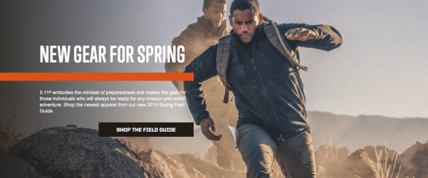 An awesome call to action from 5.11 tactical