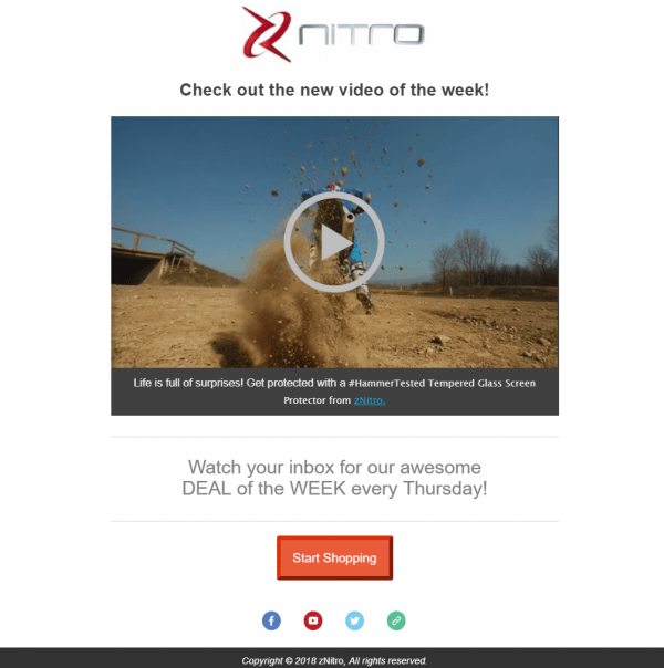 Email With embedded video
