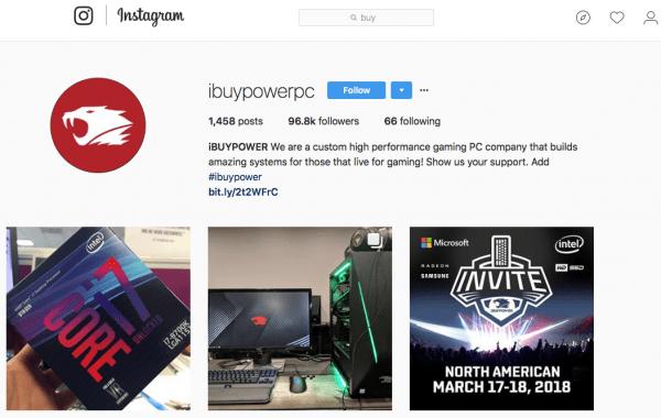 Instagram iBuyPower