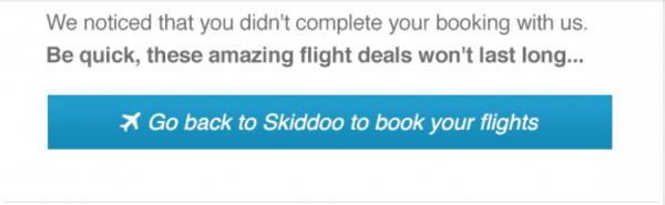 A good CTA in a cart abandonment email