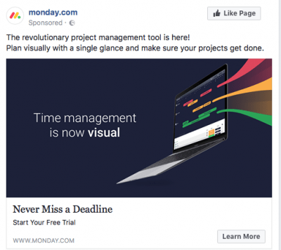 Facebook feed targeted ad